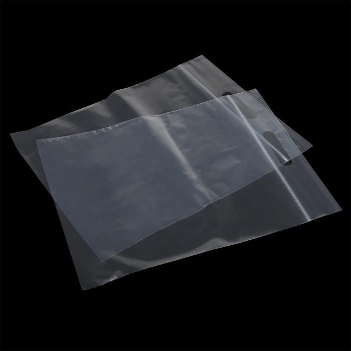 Пакет упак. полиэтиленовый с замком zip lock (зип лок) с вырубной ручкой 80 мкм 28х32см цв.прозрачный уп.100шт