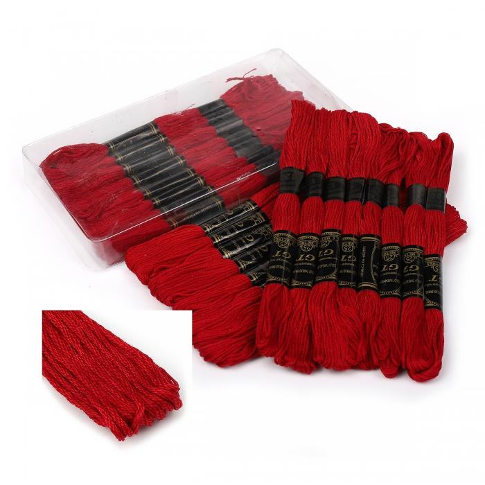 Нитки мулине IDEAL арт.МШ (100% хлопок) 24х8м цв.120 т. красный