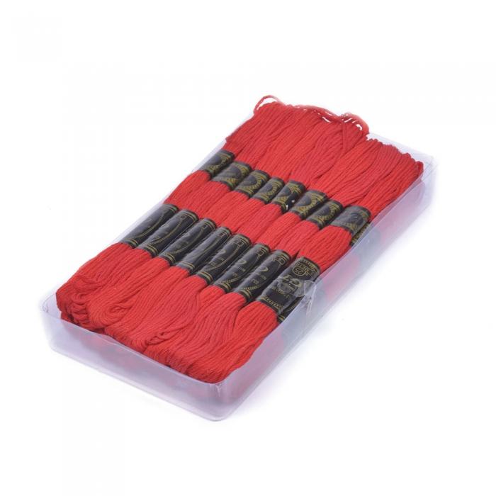 Нитки мулине IDEAL арт.МШ (100% хлопок) 24х8м цв.119 красный