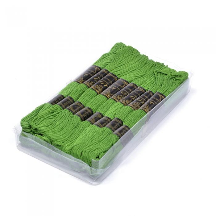 Нитки мулине IDEAL арт.МШ (100% хлопок) 24х8м цв.210 зеленый