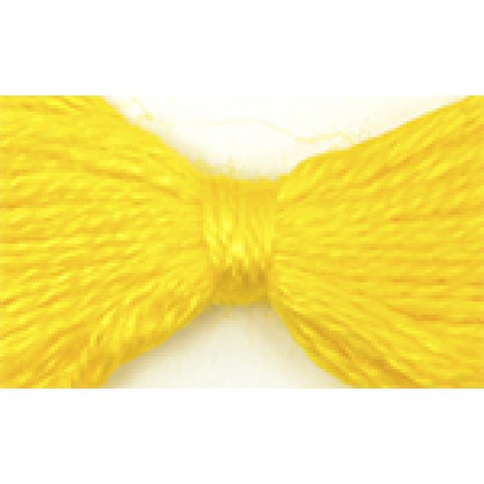 Нитки мулине цв.0208 желтый 12х10м С-Пб