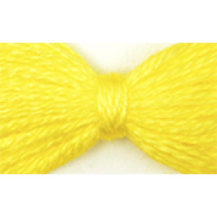 Нитки мулине цв.0207 желтый 12х10м С-Пб