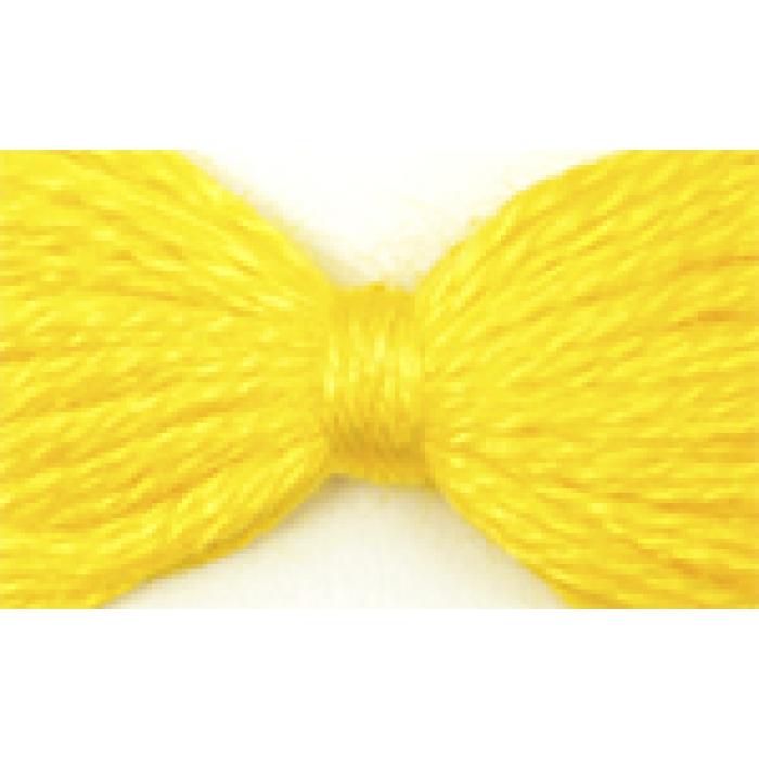 Нитки мулине цв.0209 желтый 12х10м С-Пб