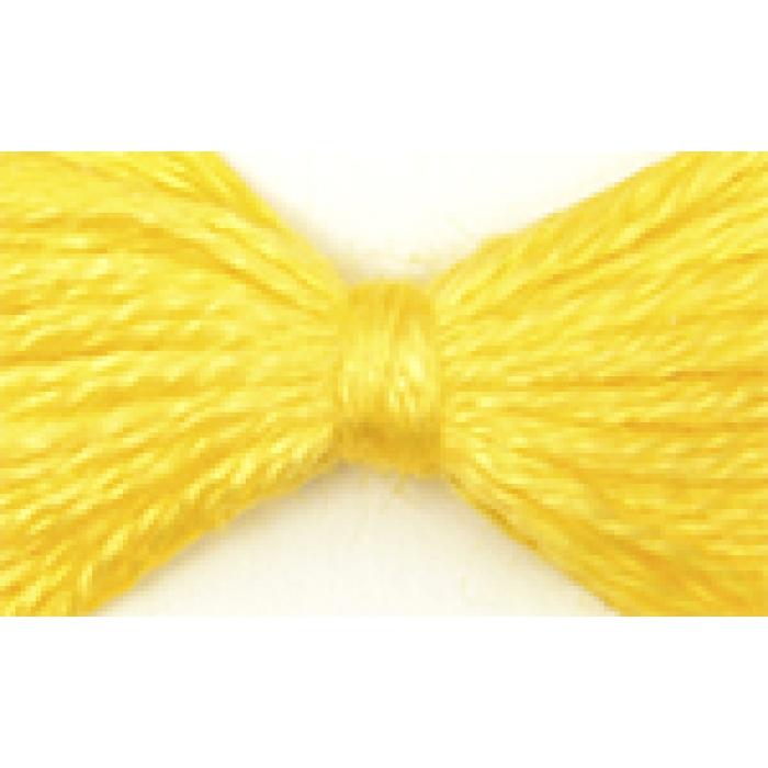 Нитки мулине цв.0303 желтый 12х10м С-Пб