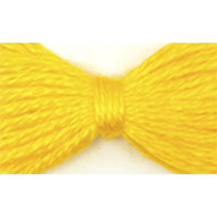 Нитки мулине цв.0305 ярк.желтый 12х10м С-Пб