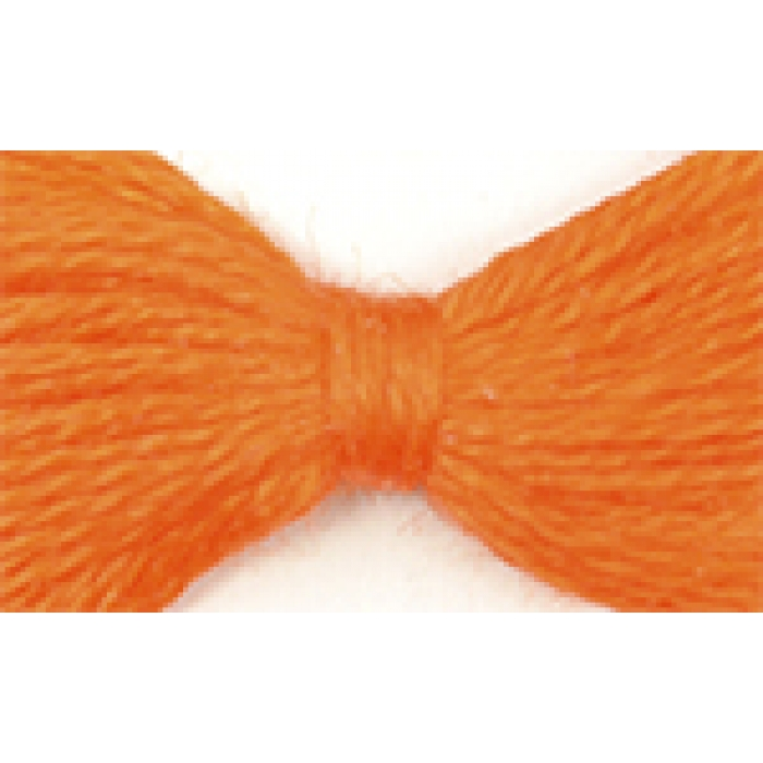 Нитки мулине цв.0711 т.оранжевый 12х10м С-Пб