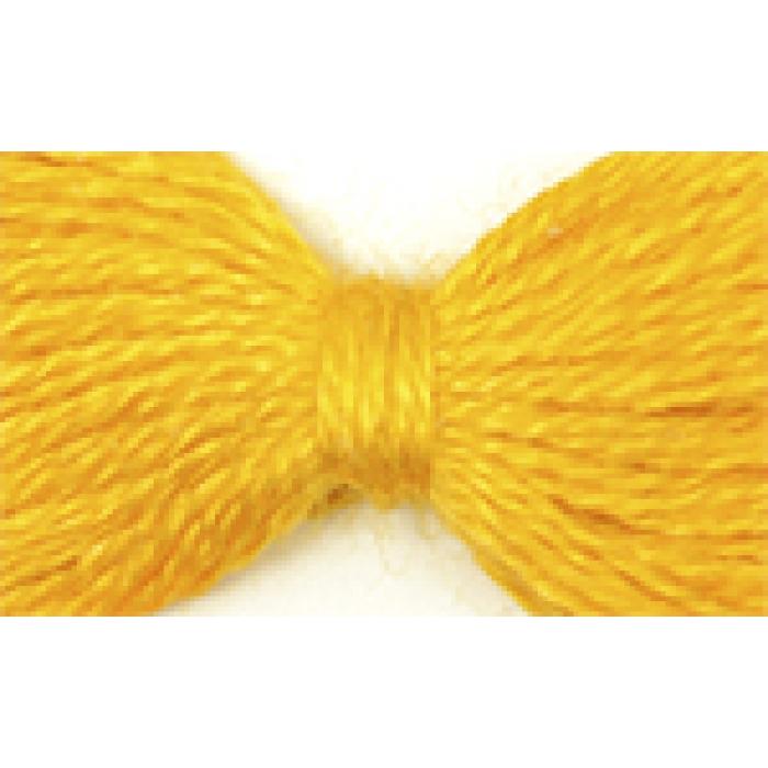 Нитки мулине цв.0306 т.желтый 12х10м С-Пб