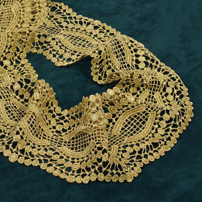 Кружево арт.TBY LC-GL06 шир.80мм цв.золото уп.9,14м