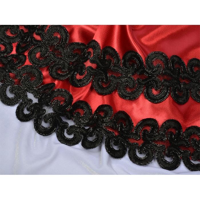 Кружево венецианское арт.TBY G1231 60мм цв.03 черный уп.9,14м