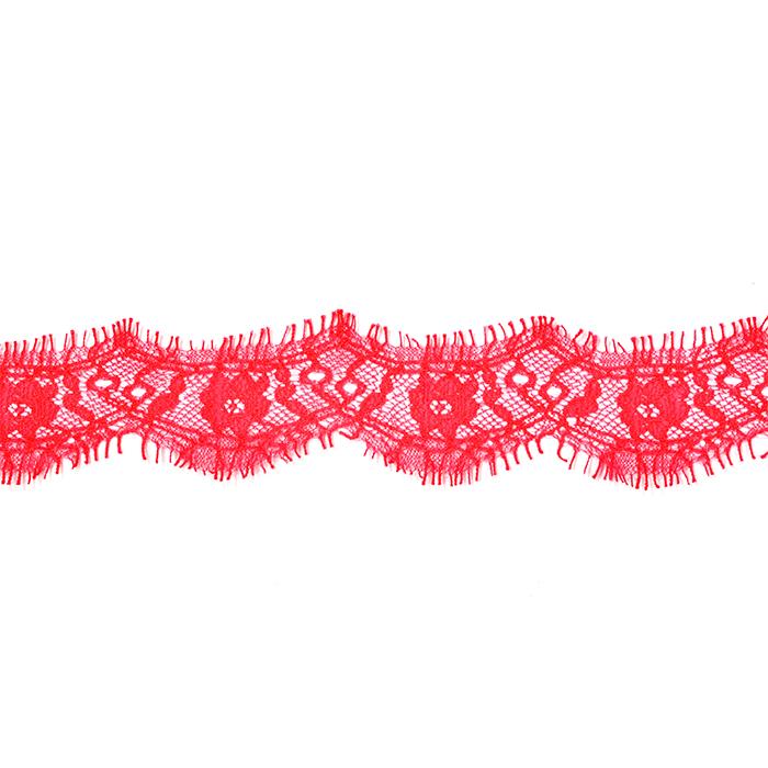"""Кружево """"реснички"""" арт.TBY 75637 шир.40мм цв.148 красный уп.30м (по 3м)"""