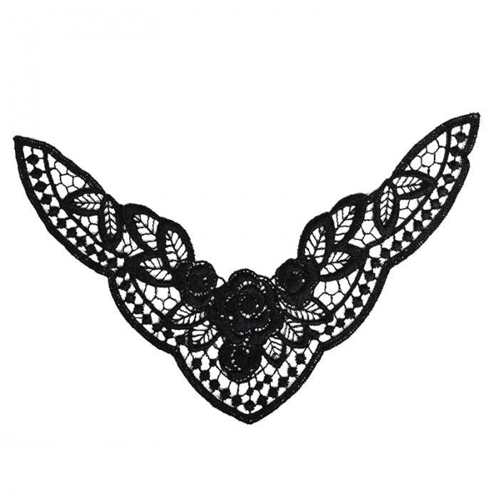 Кружевная вставка арт.TR.1335 240х140мм цв.2 черный уп.10шт