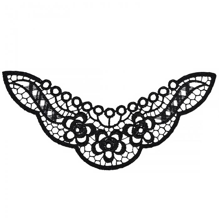 Кружевная вставка арт.TR.1371 220х120мм цв.2 черный уп.10шт
