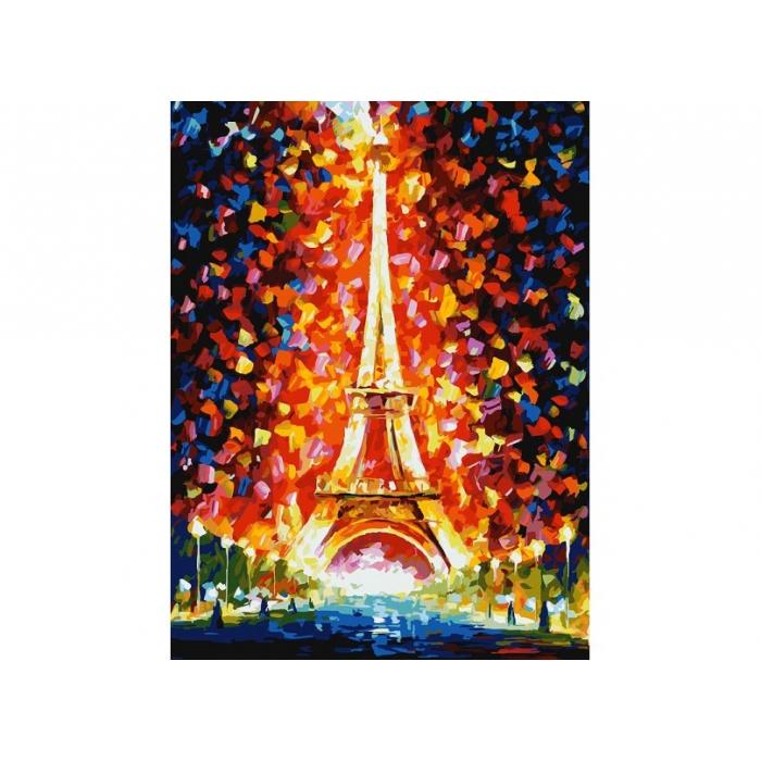 Живопись на картоне Белоснежка арт.БЛ.3026-CS Париж - огни Эйфелевой башни 30х40 см