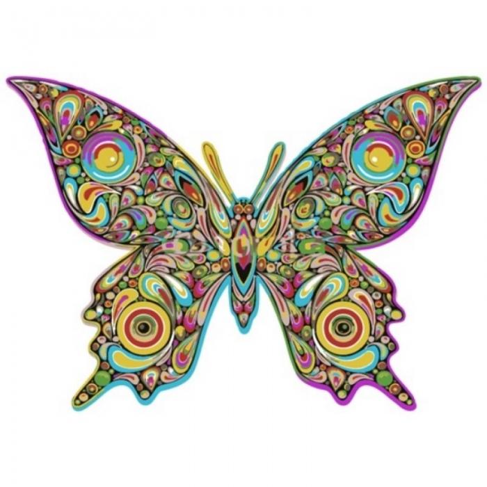 Живопись по номерам Бабочка поп-арт MC1007 20х30 тм Цветной