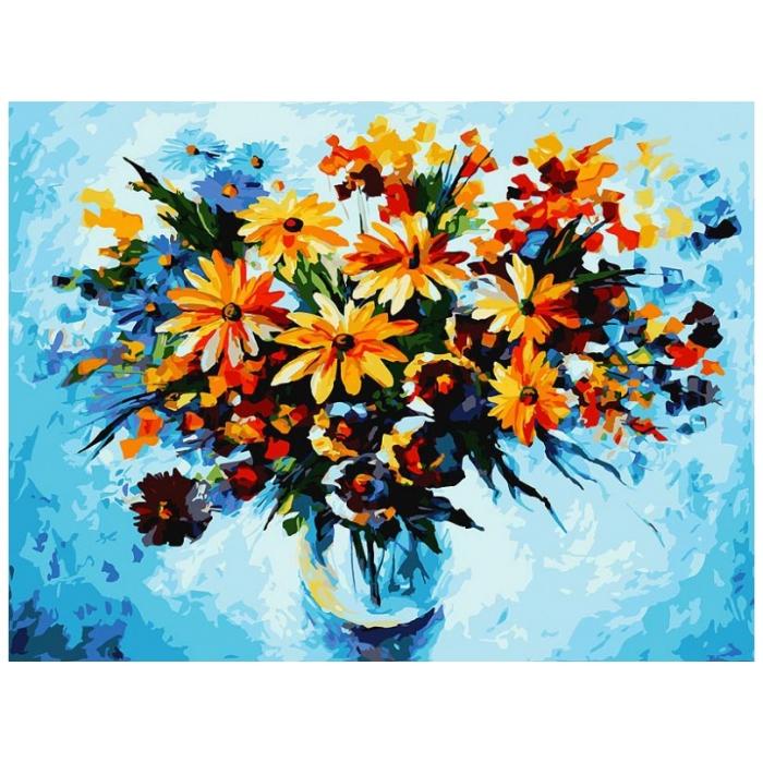 Картины по номерам Белоснежка арт.БЛ.012-AS Разноцветные ромашки 30х40 см