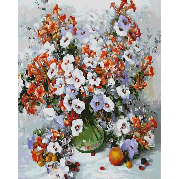 Картины по номерам Белоснежка арт.БЛ.018-AB Городские цветы 40х50 см