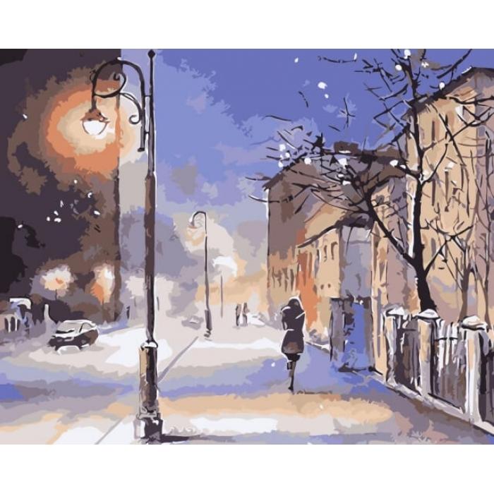 Картины по номерам Вечерняя метель MG2079 40х50 тм Цветной