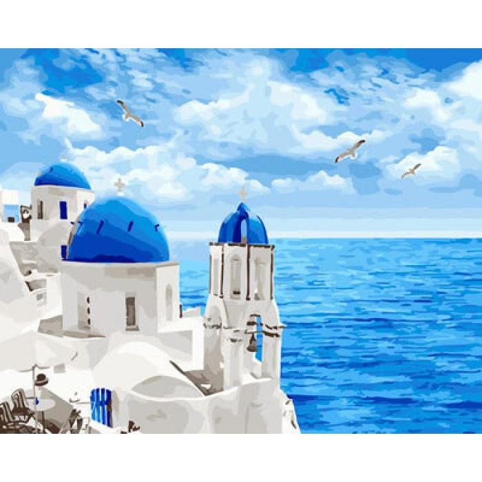 Картины по номерам Белоснежный Санторини GX29448 40х50 тм Цветной