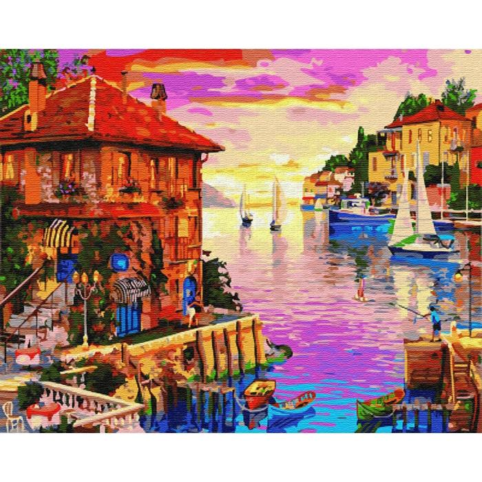 Картины по номерам Городская пристань GX22355 40х50 тм Цветной