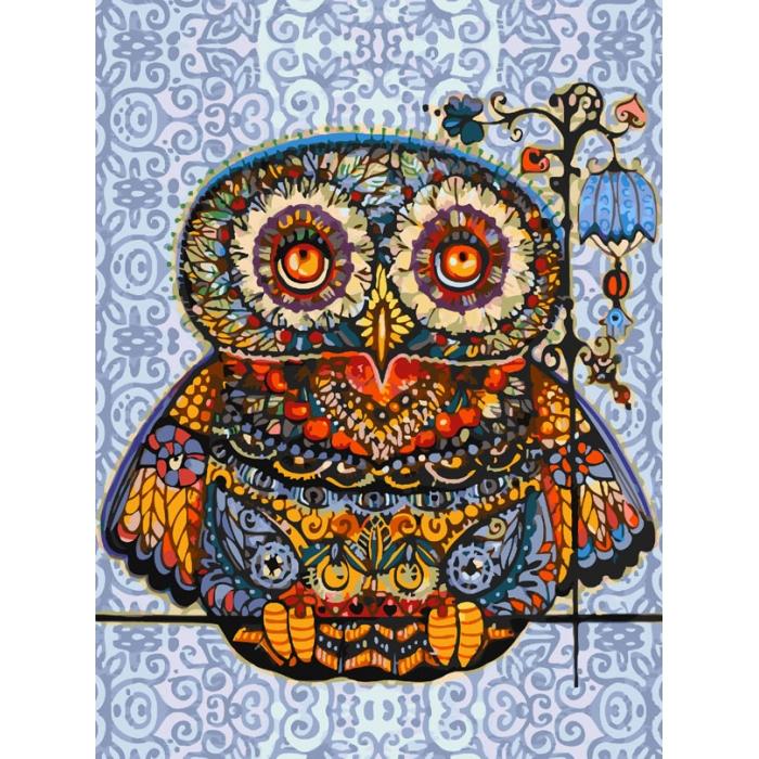 Картины по номерам Белоснежка арт.БЛ.006-AS Волшебная сова 30х40 см