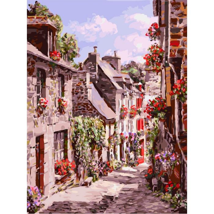 Живопись на картоне Белоснежка арт.БЛ.3254-CS Франция. Динан 30х40 см