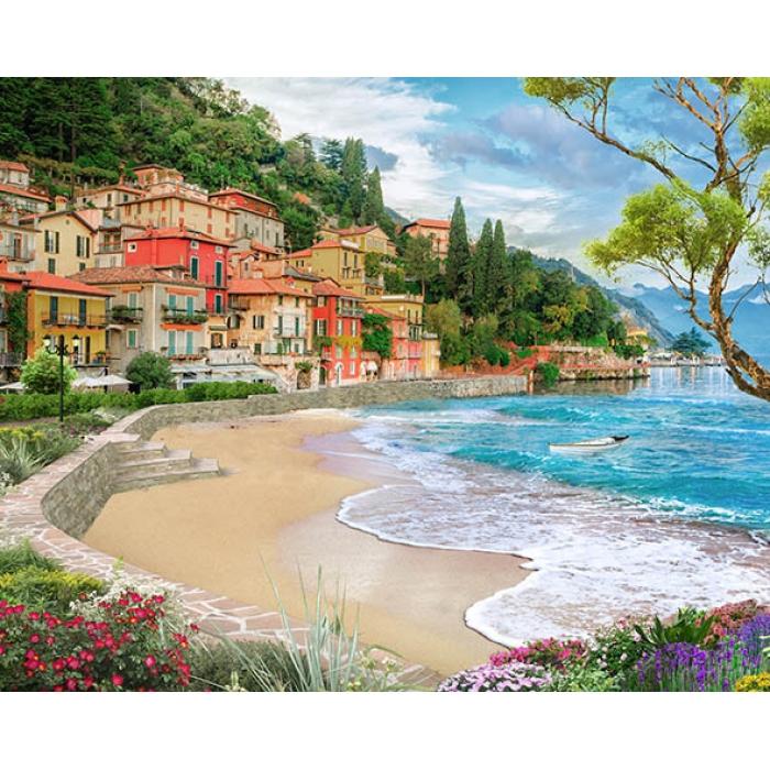 Картины по номерам Город у моря MG2417 40х50 тм Цветной