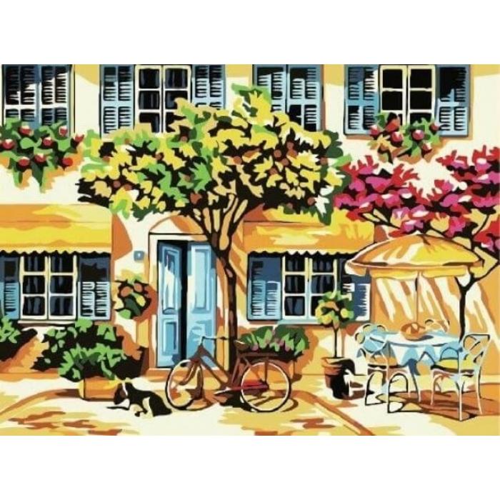 Картины по номерам Городок E091 30х40 тм Цветной